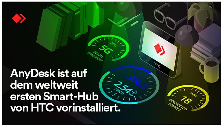 AnyDesks Beitrag zum HTC 5G Hub