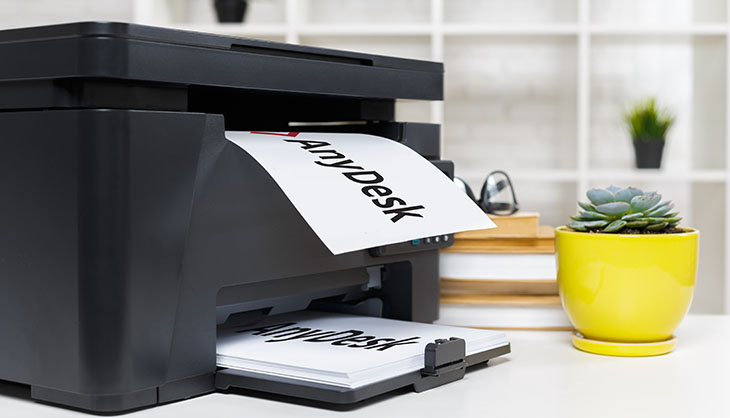 Remote printing with AnyDesk