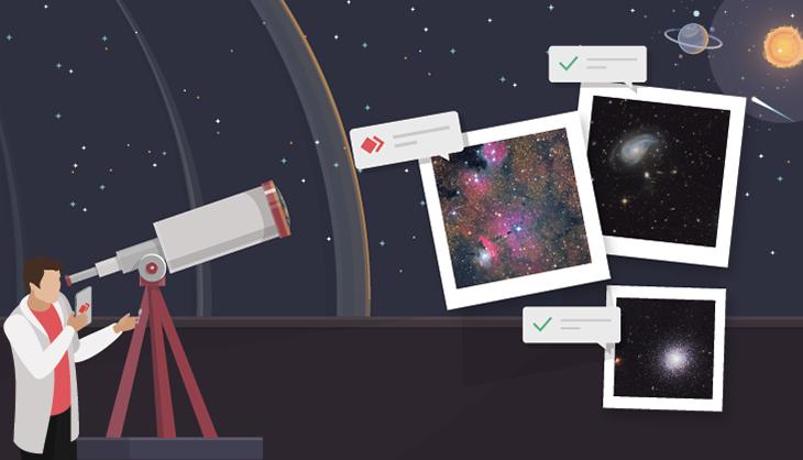 Astronomie mit AnyDesk